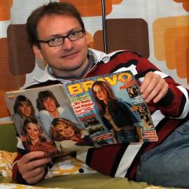 Erwin In het Panhuis hat 2600 Ausgaben der Bravo analysiert; Foto: Axel Bach