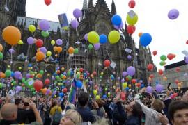 Aktion zum Tag gegen Homo- und Transphobie