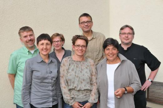 Die Jury des Felix Rexhausen-Preises 2011: Arnd Riekmann, Dorothee Winden, Susanne Wankell, Dr. Petra Werner, Michael Lohse, Dr. Carmen Kaminsky und Pascal Beucker (von links); Foto: Axel Bach