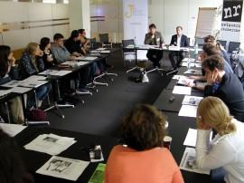 Round-Table-Gespräch bei der Jahrestagung des Netzwerks Recherche