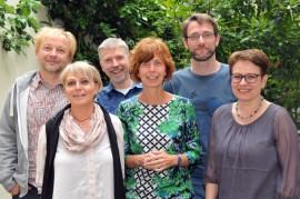 Jury des Felix-Rexhausen-Preises 2015: von links: Dr. Jürgen Bräunlein, H. Marie Breer, Arnd Riekmann, Andrea Lueg, Dr. Lars Rinsdorf, Dr. Petra Werner, (nicht im Bild: Dr. Carmen Kaminsky); Foto: Axel Bach