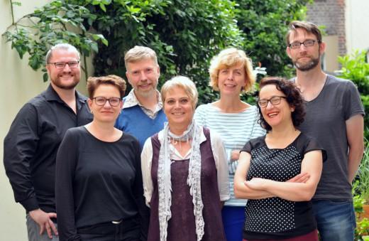 Jury des Felix-Rexhausen-Preises 2016: von links: Falk Steinborn, Dr. Petra Werner, Arnd Riekmann, H. Marie Breer, Andrea Lueg, Sefa İnci Suvak, Dr. Lars Rinsdorf; Foto: Axel Bach