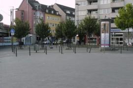 Der Felix-Rexhausen-Platz in Koeln; zwischen Eigelstein und Hauptbahnhof; Foto: Axel Bach
